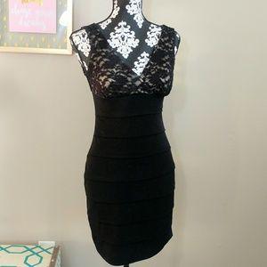 Size 4 Enfocus Petite Black Lace Dress